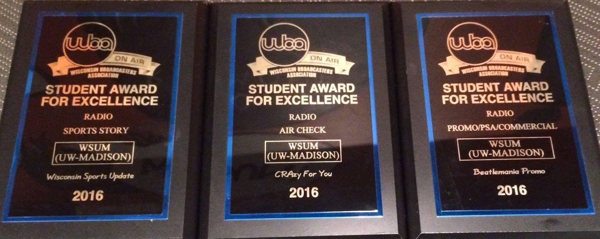 WSUM Wins WBA Awards