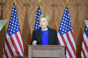 Democratic candidate Hillary Clinton speaks at UW-Madison on March 29, 2016. Photo Credit to Kelly Wang WSUM