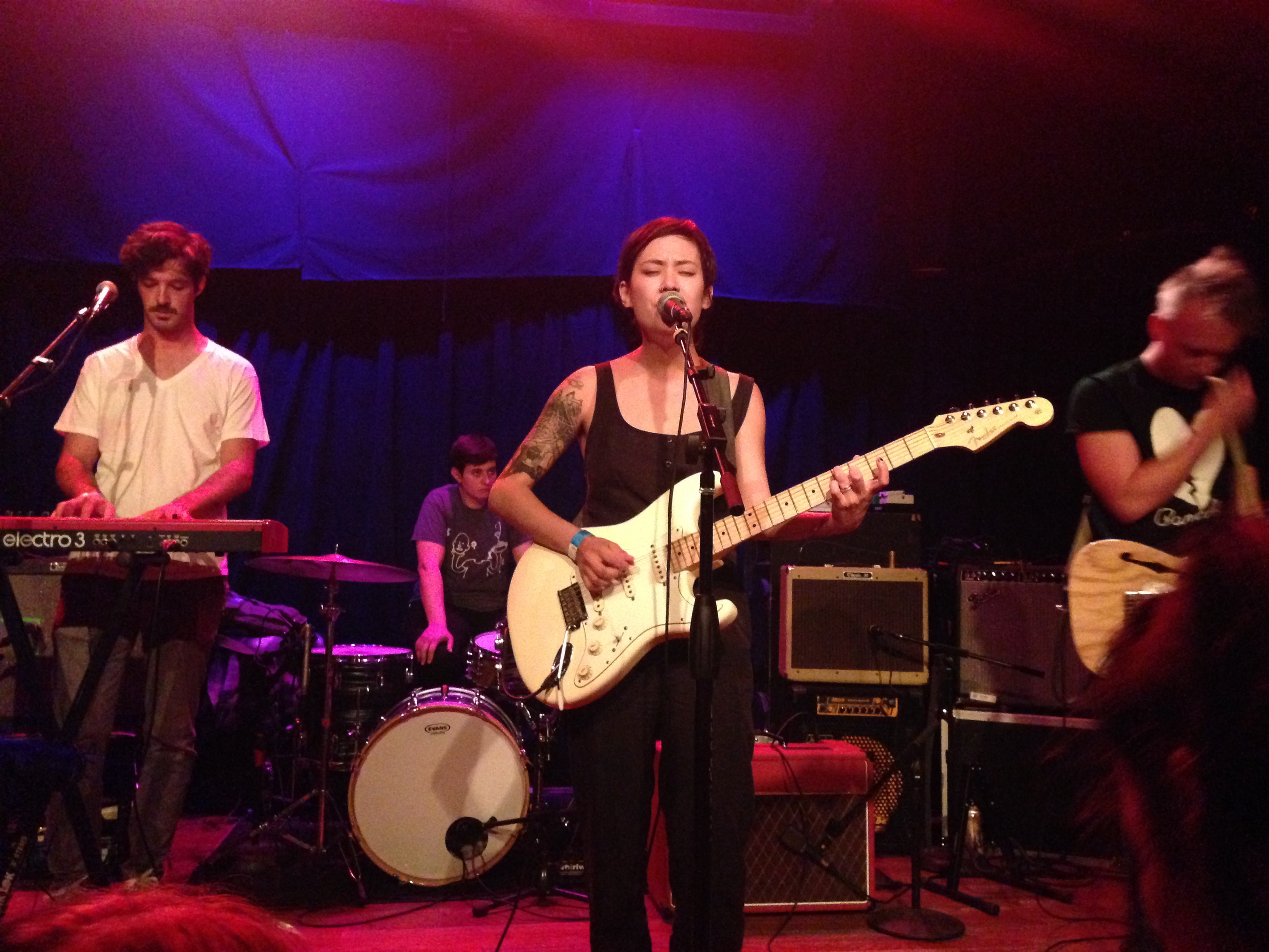 On the curb with Japanese Breakfast