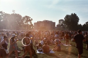 The sweltering festival grounds